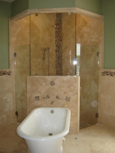 Footed Tub & Duel Shower